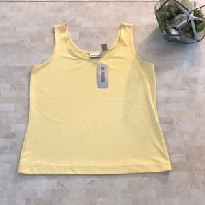 Chico's tank top in sunshine ☀️ yellow